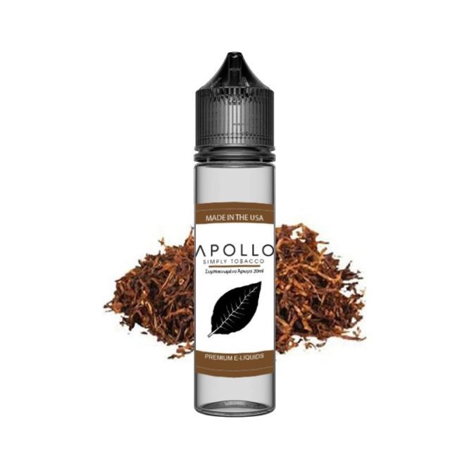 apollo simply tobacco premium eliquid 60ml 666x666 - SIMPLY TOBACCO PREMIUM ELIQUID - 60ML