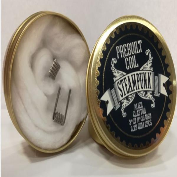 Handmade Alien Clapton Coil 0.25ohm Steampunk - Αντιστάσεις NORD POD - SMOK
