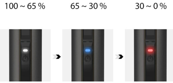 Justfog Q Pod 900mah Battery Led 555x266 - JUSTFOG Q POD KIT